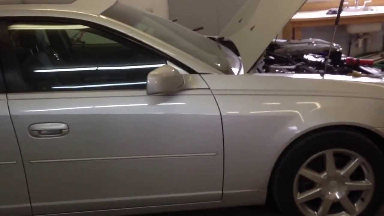 Cadillac Cts Coolant Temperator Sensor Replacement Youtube