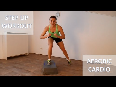 20 Minute Full Body Steps Workout – Calorie Burning Step Up Cardio Training Routine