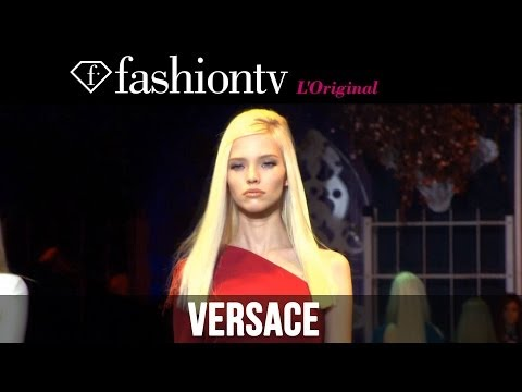 Georgia May Jagger at Versace Fall/Winter 2014-15 | Milan Fashion Week MFW | FashionTV