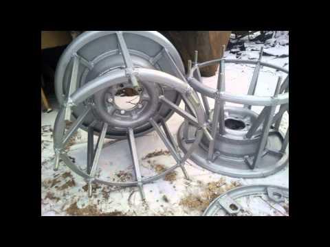 Как сделать колеса для караката своими руками
