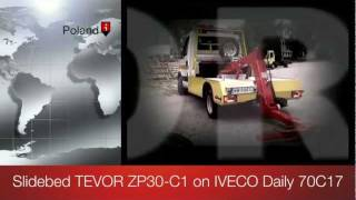 Slidebed TEVOR ZP30-C1 on IVECO Daily 70C17