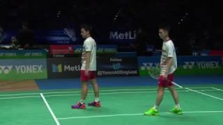 Yonex All England Open 2017 | Badminton SF M5-MD | Gid/Suk vs Con/Kol
