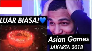 Cuplikan Kemeriahan Opening Ceremony Asian Games 2018 REACTION #AsianGames2018 #Jakarta #Indonesia