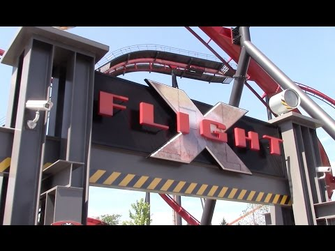 X-Flight Review Six Flags Great America B&M Wing Coaster