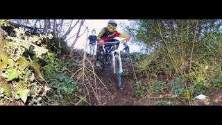 VTT Downhill - recherche d'un spot - crash
