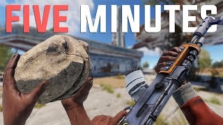 Rust - ROCK to AK in 5 MINUTES (Rust Solo Survival)