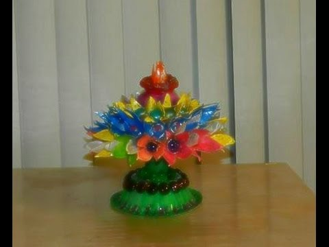 RECYCLE & DIY: Coconut shell tower with egg carton flowers!!!