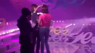 Taengsic - Taeyeon got hurt by fire work, and worried sica Fancam 090206 SNSD Gee