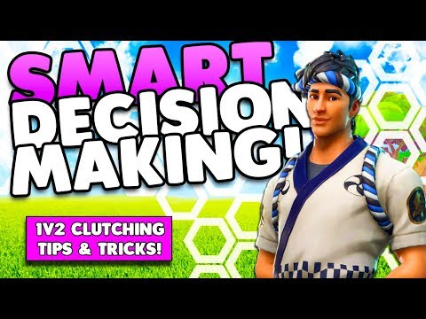 HOW TO 1V2 CLUTCH  WIN THE GAME!  SMART DECISION MAKING TIPS  TRICKS  FORTNITE BATTLE ROYALE