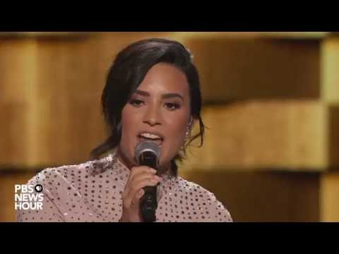 Watch Demi Lovato perform 'Confident' at the 2016 Democratic National Convention
