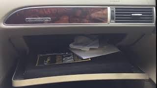 Audi a6 C6 Glovebox shock fixed