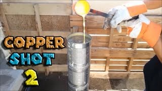 How to Make Copper Shot Part 2 From Scrap Copper Using Metal Melting Furnace