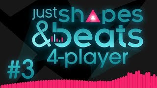 Just Shapes & Beats - #3 - BOSS SAW (4 Player Gameplay)