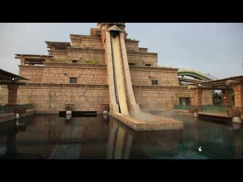 Leap of Faith Water Slide, Aquaventure,Atlantis Palm, Dubai, UAE:Shot on