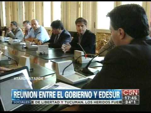 C5N - SOCIEDAD: REUNION ENTRE EL GOBIERNO Y EDESUR