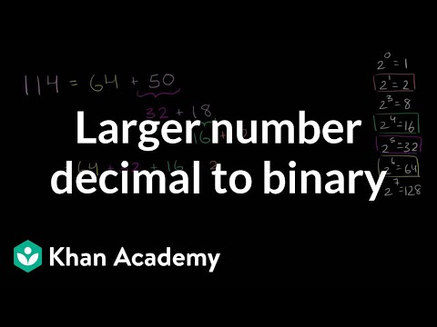 Converting larger number from decimal to binary