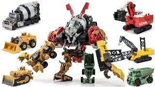 Transformers Movie 2 ROTF Supreme Construction Devastator 6 Vehicle Combine Robot Car Toys