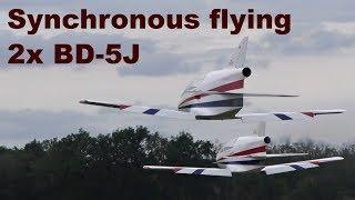 Synchronous flying 2x BD5J Microjet GB models, 2017
