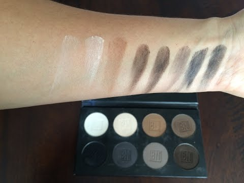 Ben Nye Essential Eye Shadow Palette Review and Demo of the Browns