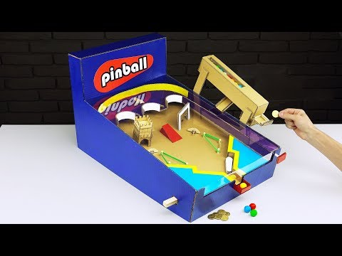 DIY Money Operated Amazing Pinball Game Gumball Vending Machine
