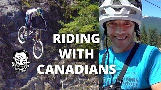 Riding Whistler with Canadians - Jordan Boostmaster!