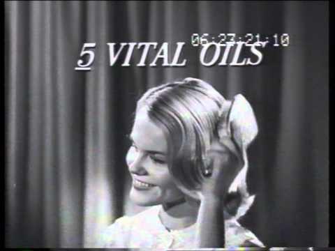 Alberto Culver VO5 shampoo 1961 TV commercial