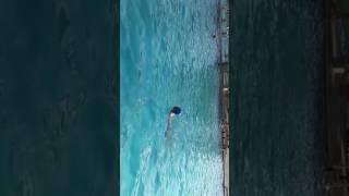 罗珠公第六十五世孙 罗强 游泳池50米游泳。20170624。