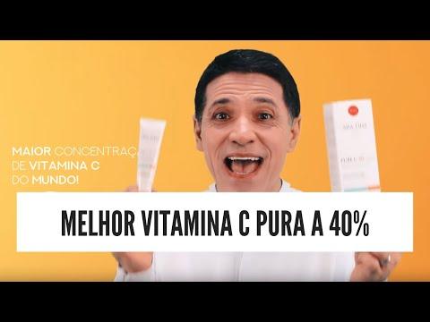 MELHOR VITAMINA C PURA A 40%   PURE C 40 ULTRA - ADA TINA