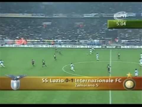 1997-1998 Coppa UEFA - Inter vs Lazio 1-0 Zamorano (Commento di Bruno Pizzul)