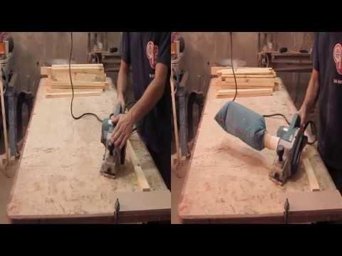 Coletor de pó caseiro para plaina elétrica