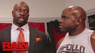 Titus O'Neil has big plans for Apollo Crews: Raw, April 17, 2017