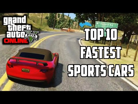 GTA 5 PS4 - Top 10 Fastest Sports Cars!! (GTA V Best Racing Cars)