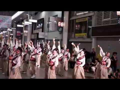 俄嘉屋~2014年・第61回よさこい祭り (帯屋筋).