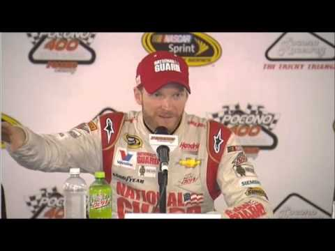 Dale Earnhardt Jr Pocono 400 Winner Interview NASCAR Video