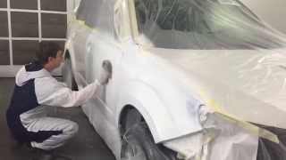 Painting Tricoat white Color  - AutoSQS.com