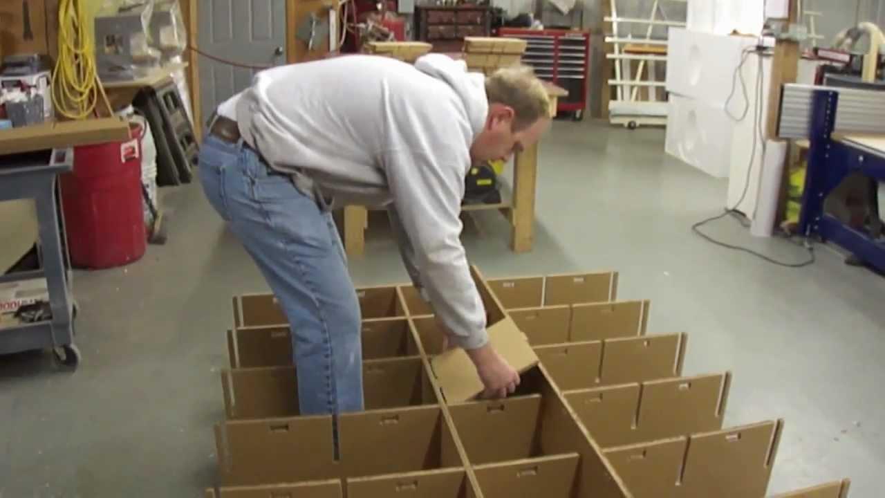 Making A Cardboard Shelf YouTube