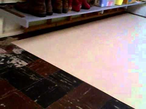 How to lay armstrong peel and stick vinyl tile over old for Stick down linoleum tiles