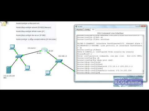 Configuración de un servidor DHCP en un router Cisco. usando dos