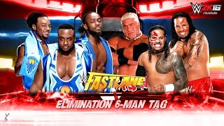 WWE 2K16 - The New Day vs The Usos Feat. Rikishi | Elimination Tag | PS4 Gameplay