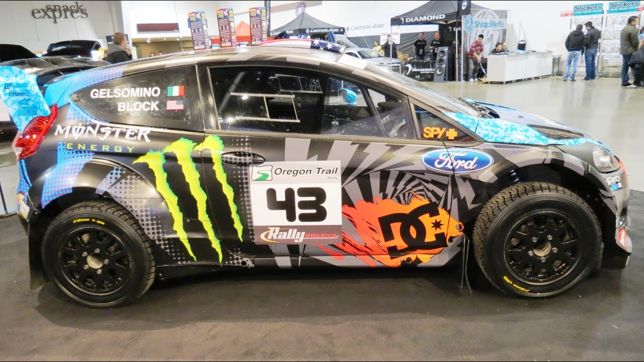 ken block ford focus rally car at 2013 megaspeed show youtube. Black Bedroom Furniture Sets. Home Design Ideas