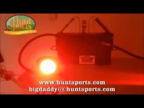 HogLight Deer Feeder LED Hog Light FeederLight Solar Wild Boar Hunting Set Up Package