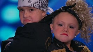 America's Got Talent 2015 S10E01 Elin and Noah Dance To MC Hammer