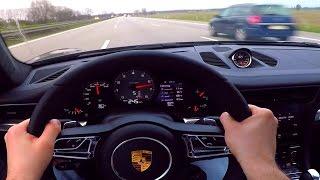 Porsche 911 Onboard POV Acceleration 991 Turbo C4S Autobahn 300 km/h Test Drive
