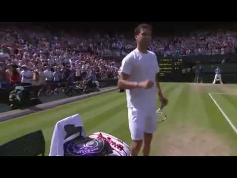 Match point: Grigor Dimitrov beats Murray in three - Wimbledon 2014