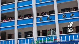 AMAZING Chinese Schoolhouse Greeting | Cycling Rural China