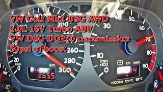 Boba VW Golf Mk2 DSG AWD Brutal Acceleration 2018