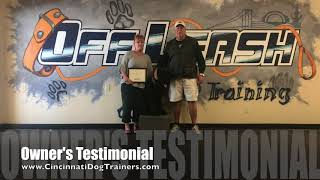 8 Month Old Giant Schnauzer Owner's Testimonial at Cincinnati Dog Trainers Off Leash K9