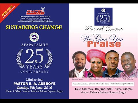 RCCG Apapa Family Excel 2016 Musical Concert (ft.Nathaniel Bassey & Chioma Jesus) 04-06-2016