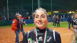 Miriana Cerioni del Forlì dopo lo scudetto 2017