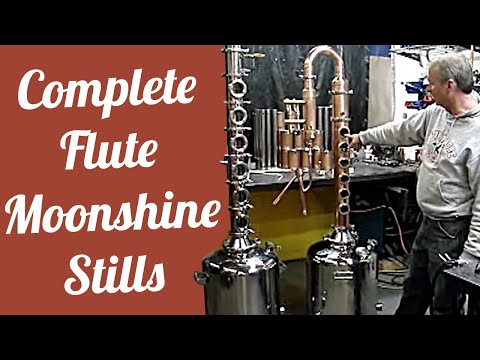 Moonshine flute still for alcohol stills